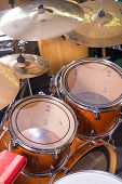 picture of drum-kit  - A closeup take of a classic drum kit - JPG