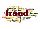 stock photo of precaution  - Fraud word image with hi - JPG