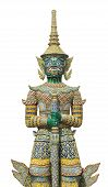 picture of guardian  - Giant guardian at Grand palace Bangkok isolated on white background - JPG