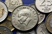 stock photo of turkish lira  - Coins of Turkey - JPG