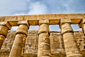 stock photo of cultural artifacts  - columns covered in hieroglyphics - JPG