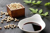 stock photo of soy sauce  - studio shot of Japanese seasoning soy sauce - JPG