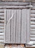 picture of laplander  - Barn door covered with frost - JPG
