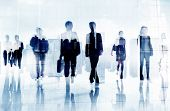 foto of commutator  - Business People Colleagues Walking Commuting Concept - JPG