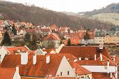 foto of red roof  - the red roofs of the old town and streets - JPG