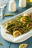 picture of sauteed  - Homemade Sauteed Green Beans with Lemon and Garlic