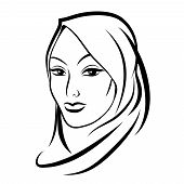 picture of hijabs  - Beautiful arab muslim woman - JPG