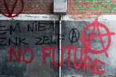 picture of anarchists  - Red Spray Paint Anti - JPG