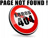 stock photo of not found  - illustration of page not found design sign - JPG