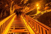 picture of salt mine  - Underground staircase in the corridor - JPG