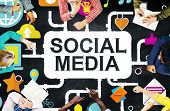 image of social-security  - Social Media Social Networking Technology Connection Concept - JPG