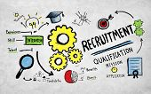 pic of recruiting  - Recruitment Application Planning Working Strategy Concept - JPG