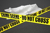 foto of crime scene  - police line and dead body crime scene concept - JPG