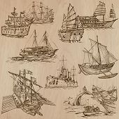 stock photo of historical ship  - Boats and Ships around the World - JPG