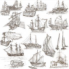 pic of historical ship  - Boats and Ships around the World - JPG