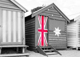 picture of bathing  - Bathing houses at Brighton Beach Australia - JPG