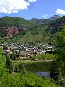 picture of rocky-mountains  - The town of Telluride Colorado rests in the heart of the Rocky Mountains - JPG