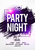 Vector Illustration Night Dance Party Music Poster Template. Electro Style Concert Disco Club Party  poster