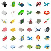Bad War Icons Set. Isometric Style Of 36 Bad War Icons For Web Isolated On White Background poster
