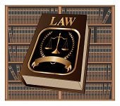 Law Book Seal And Library Is An Illustration Of A Law Book Used By Lawyers And Judges With A Scale O poster
