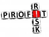foto of fail-safe  - 3D Credit Risk Crossword on white background - JPG