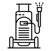 Car Wash Equipment Icon. Outline Car Wash Equipment Vector Icon For Web Design Isolated On White Bac poster