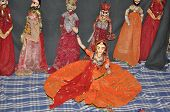 foto of rajasthani  - Rajasthani Puppet Dance from Rajasthan in India - JPG