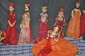 stock photo of rajasthani  - Rajasthani Puppet Dance from Rajasthan in India - JPG