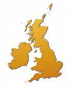 Постер, плакат: Великобритания карта