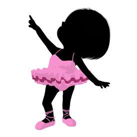 picture of carron  - Little ballerina girl on a white background - JPG