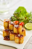 Barbecue Tofu with salad