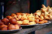 Постер, плакат: Традиционной Индии пищи на улице