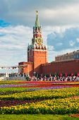 Flower cover on Red Square