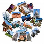 Usa Famous Landmarks And Landscapes Photo Collage poster
