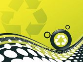 picture of environmentally friendly  - recycle button environmental conservation with wave halftone line - JPG