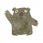 stock photo of wombat  - retro cartoon wombat - JPG