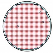 image of supercomputer  - Semiconductor wafer map test result illustration with few or ideal failures  - JPG