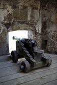 foto of emplacements  - The guns of St Mawes Castle in Cornwall - JPG