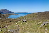 Isle Of Harris, Green Highlands Surrounding A Blue Lake