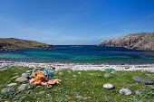 Isle Of Lewis, Colorful Sea In A Sunny Day