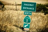 stock photo of mendocino  - Route 1 sign - JPG
