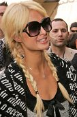 Paris Hilton at the Ceremony Honoring Los Angeles Lakers Owner Jerry Buss with the 2,323rd star on t