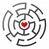 stock photo of lost love  - Love maze - JPG