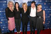 Alexis Arquette, Courteney Cox, Rosanna Arquette, Thomas Jane and Patricia Arquette at the NBC fall