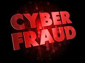 Cyber Fraud on Digital Background.