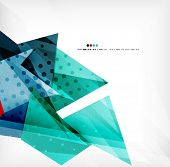 stock photo of geometric shapes  - Vector 3d geometric shape abstract futuristic background - JPG