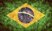 stock photo of high-quality  - Brazil grunge flag - JPG