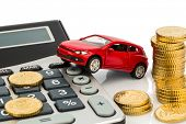 picture of calculator  - car and calculator - JPG