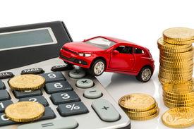 image of tariff  - car and calculator - JPG