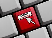 stock photo of change management  - Computer Keyboard with mouse symbol Change Management - JPG